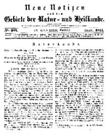 Neue Notizen aus dem Gebiete der Natur- und Heilkunde, 1844 (Bd. XXXII, nr 6), October - No 688