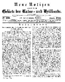 Neue Notizen aus dem Gebiete der Natur- und Heilkunde, 1844 (Bd. XXXII, nr 8), October - No 690
