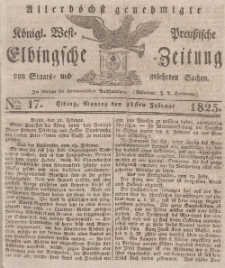 Elbingsche Zeitung, No. 17 Montag, 28 Februar 1825