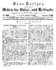 Neue Notizen aus dem Gebiete der Natur- und Heilkunde, 1844 (Bd. XXXII, nr 12), November - No 694