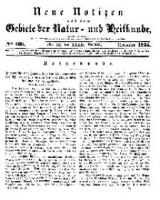 Neue Notizen aus dem Gebiete der Natur- und Heilkunde, 1844 (Bd. XXXII, nr 13), November - No 695