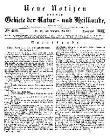 Neue Notizen aus dem Gebiete der Natur- und Heilkunde, 1844 (Bd. XXXII, nr 17), Dezember - No 699
