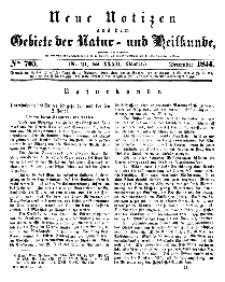 Neue Notizen aus dem Gebiete der Natur- und Heilkunde, 1844 (Bd. XXXII, nr 21), Dezember - No 703