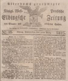 Elbingsche Zeitung, No. 18 Donnerstag, 3 März 1825