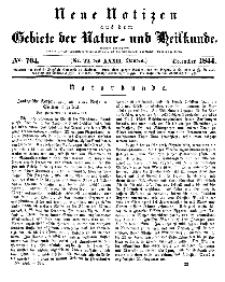Neue Notizen aus dem Gebiete der Natur- und Heilkunde, 1844 (Bd. XXXII, nr 22), Dezember - No 704