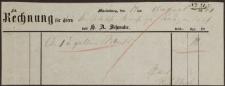 Rechnung (14.08.1860 r.)