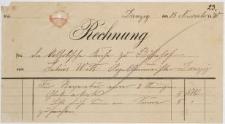 Rechnung (15.11.1890 r.)