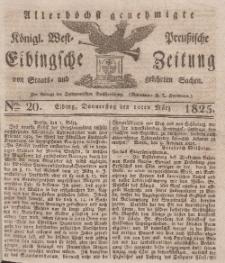 Elbingsche Zeitung, No. 20 Donnerstag, 10 März 1825