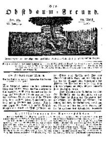 Der Obstbaumfreund, Jg.VI, 20. April 1833, No 16.
