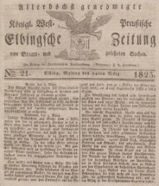Elbingsche Zeitung, No. 21 Montag, 14 März 1825