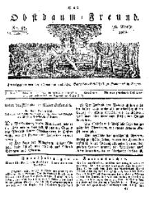 Der Obstbaumfreund, Jg.VI, 26. November 1833, No 47.