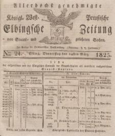 Elbingsche Zeitung, No. 24 Donnerstag, 24 März 1825