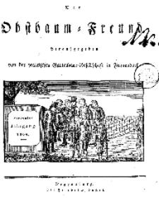 Inhalts=Anzeige (Der Obstbaumfreund 1834)