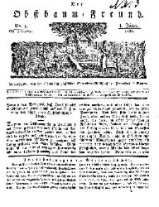 Der Obstbaumfreund, Jg.VII, 1. Januar 1834, No 1.