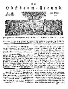 Der Obstbaumfreund, Jg.VII, 22. März 1834, No 12.