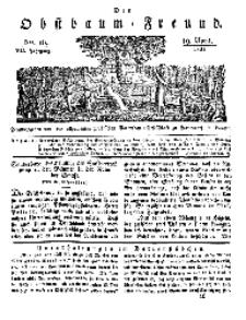 Der Obstbaumfreund, Jg.VII, 19. April 1834, No 16.