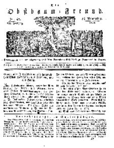 Der Obstbaumfreund, Jg.VII, 24. November 1834, No 47.