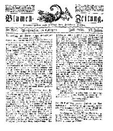Blumen-Zeitung, Jg. VI, Juli 1833, No 14.