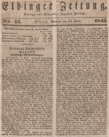 Elbinger Zeitung, No. 43 Montag, 10. April 1843