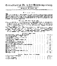 Extra=Blatt (Blumen-Zeitung), 1834, No 23.