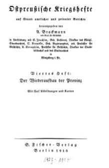 Ostpreußische Kriegshefte, 4. Heft