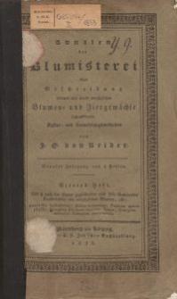 Annalen der Blumisterei, 4. Heft, 1833
