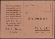 Postkarte: F. A. Brockhaus-Leipzig