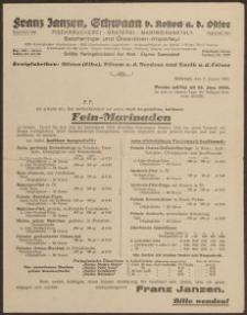 Druk firmowy: Franz Jansen, Swaan z dnia 07.01.1931 r.