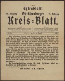 Extrablatt! Ost=Sternberger Kreis=Blatt, 1933 Nr 36.