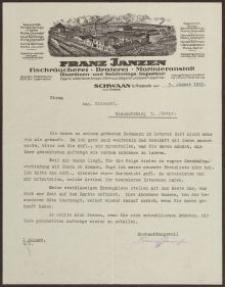 Druk firmowy: Franz Jansen, Swaan z dnia 09.01.1931 r.