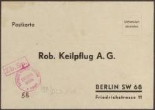 Postkarte: Rob. Keilpflug A. G.