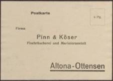 Postkarte: Pinn und Köser Fischräucherei und Marinieranstalt Altona-Ottensen
