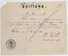 1882, Quittung: Schornsteinfeger-Meister