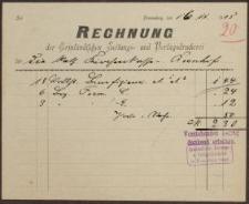 Rechnung: Der Ermländischen Zeitungs- und Verlagsdruckerei