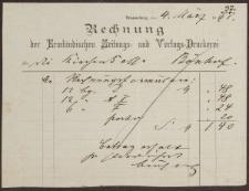 Rechnung: Der Ermländischen Zeitungs- und Verlags-Druckerei (04.05.1891)