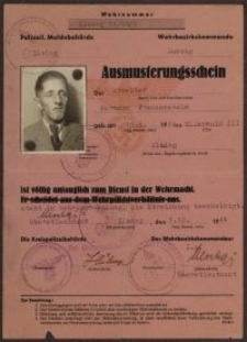 Ausmusterungsschein: Hermann Frankenstein