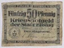 Notgeld elbląski (50 Pfennig)