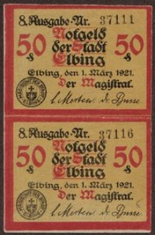 Notgeldy elbląskie (37111; 37116)