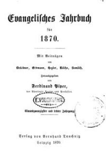 Evangelisches Jahrbuch für 1870
