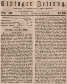Elbinger Zeitung, No. 49 Montag, 24. April 1843