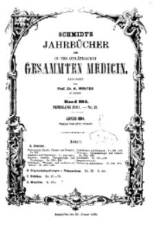 Schmidt's Jahrbücher der in- und ausländischen gesammten Medicin, 1884 (Nr 11), Bd. 204, No 2.