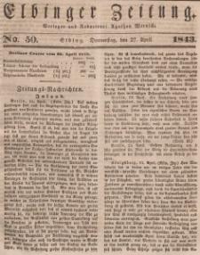 Elbinger Zeitung, No. 50 Donnerstag, 27. April 1843