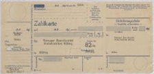 Zahlkarte: Danziger Feuersozietät Kreisdirektion Elbing