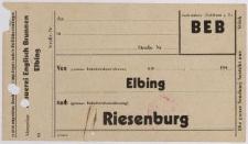 Papier firmowy: Englisch Brunnen Elbing oraz zaświadczenie: Państwowe Browary w Elblągu