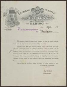 Orgelbau-Anstalt von Ed. Wittek vorm Terletzki, Elbing (19.07.1905)