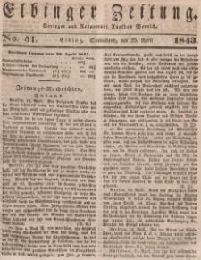 Elbinger Zeitung, No. 51 Sonnabend, 29. April 1843
