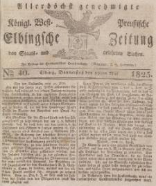 Elbingsche Zeitung, No. 40 Donnerstag, 19 Mai 1825