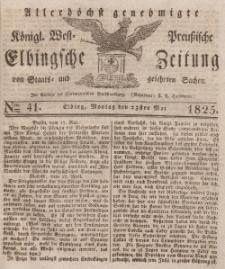 Elbingsche Zeitung, No. 41 Montag, 23 Mai 1825