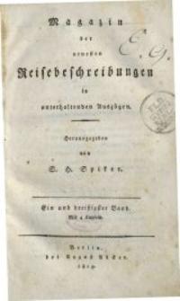Magazin der neuesten Reisebeschreibungen in unterhaltenden Auszügen, Bd. 31, 1819