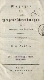 Magazin der neuesten Reisebeschreibungen in unterhaltenden Auszügen, Bd. 32, 1819